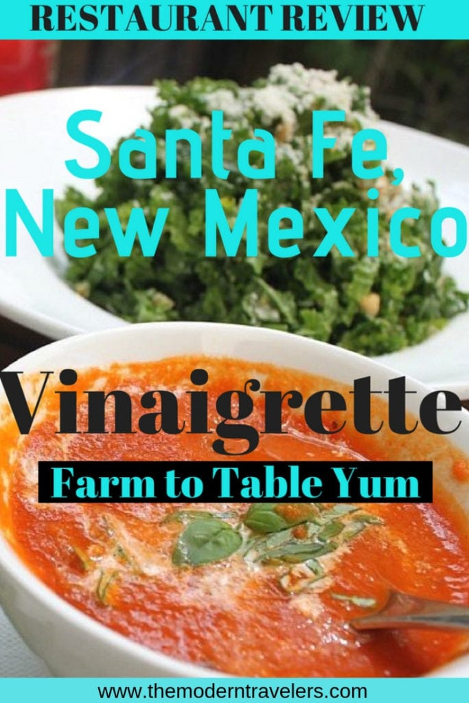 Santa Fe's farm to table restaurant, Vinaigrette, is a must for anyone looking for nourishment in Santa Fe. Outdoor seating and food prepared with intention--you really feel the love. Best food in Santa Fe New Mexico, Vegetarian Food Santa Fe New Mexico, Where to Eat in Santa Fe, Things to do in Santa Fe, Farm to Table Food Santa Fe New Mexico.