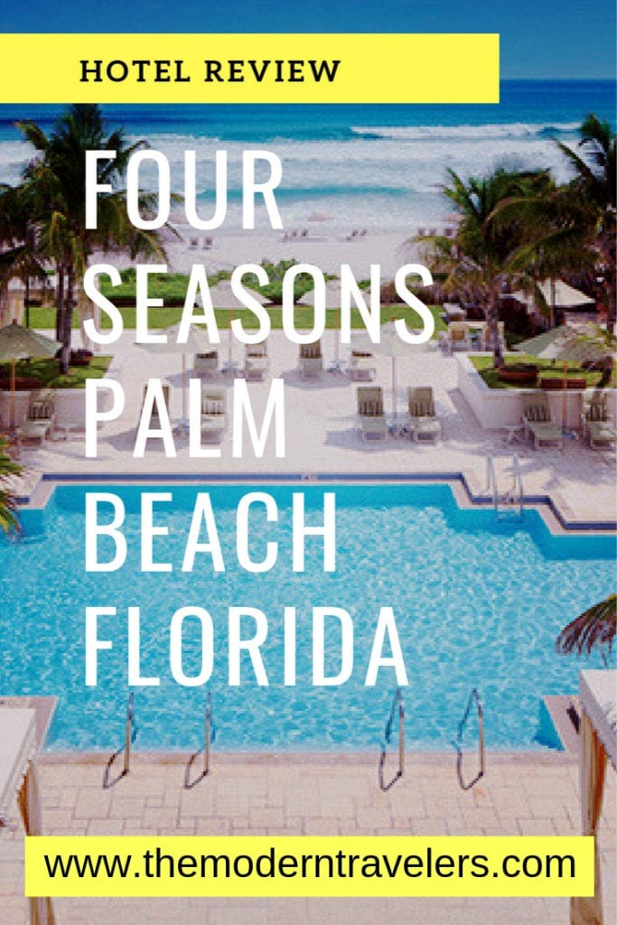 Four Seasons Palm Beach Hotel Review. Possibly my favorite hotel in all of Florida. Where to stay in Palm Beach, Best hotels in Florida, Luxury Hotels Florida