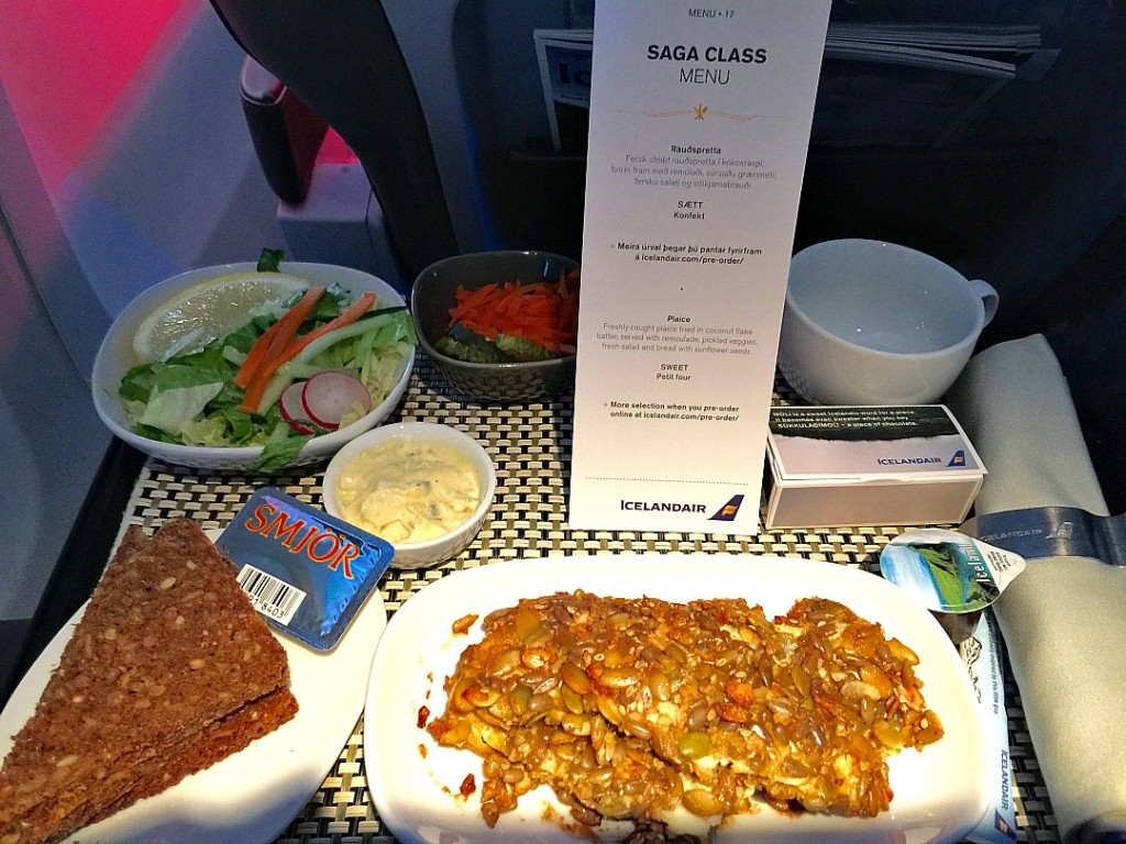 Should you spring for Icelandair Saga Class? This is what it's like to fly up front. Saga Class Icelandair. Travel to Iceland. Reykjavik. How to get to Iceland. Best way to get to Iceland. icelandair saga class diner