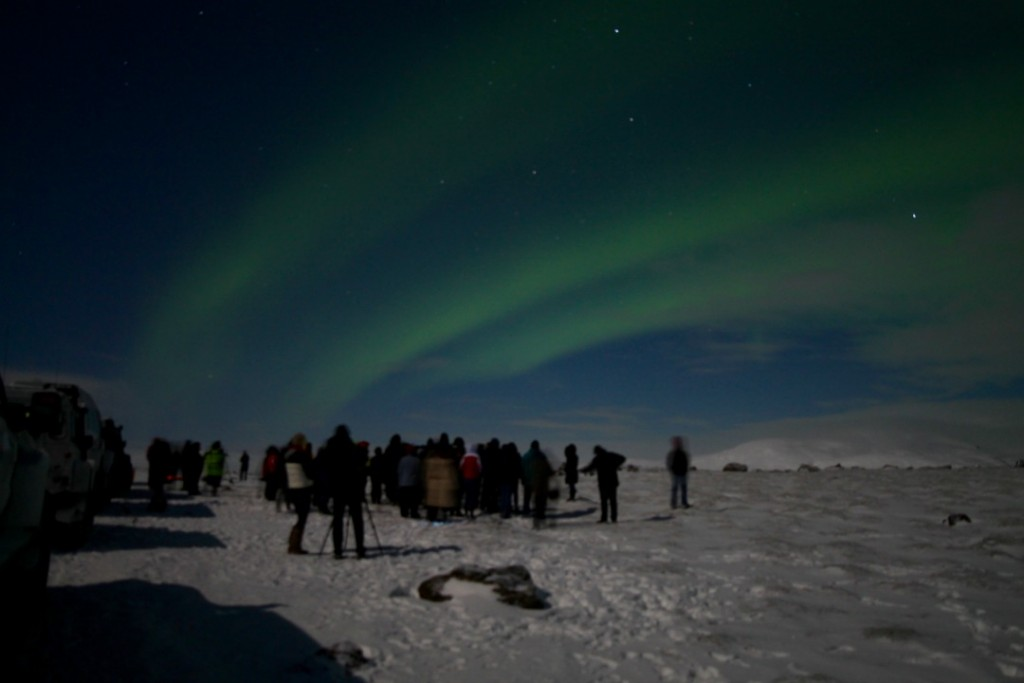 iceland northern lights group