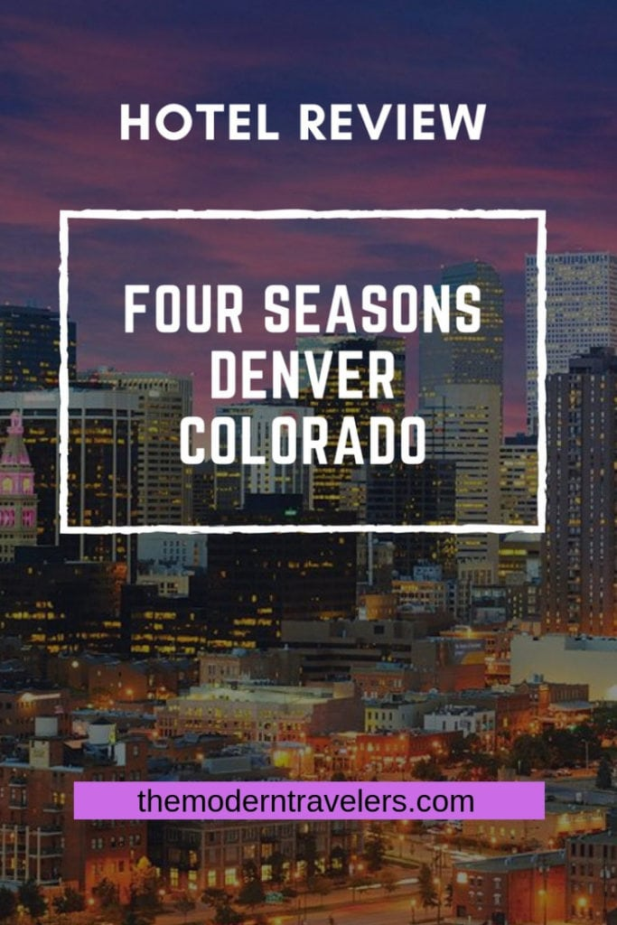 Four Seasons Hotel Denver Colorado Review. Great location, fabulous food, rooftop pool...the perfect place to stay in Denver. Denver luxury hotel, where to stay in Denver. @fsdenver @fourseasons Larimer Square Denver