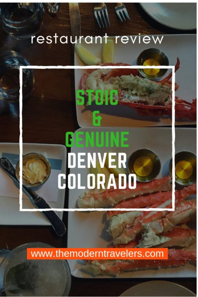 Stoic & Genuine Restaurant Review, Where to eat in Denver, Best food in Denver Colorado.Things to do in Denver.