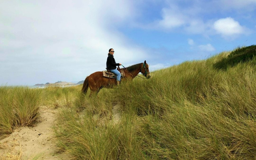 Horseback Riding the Oregon Coast with Green Acres Beach & Trail Rides