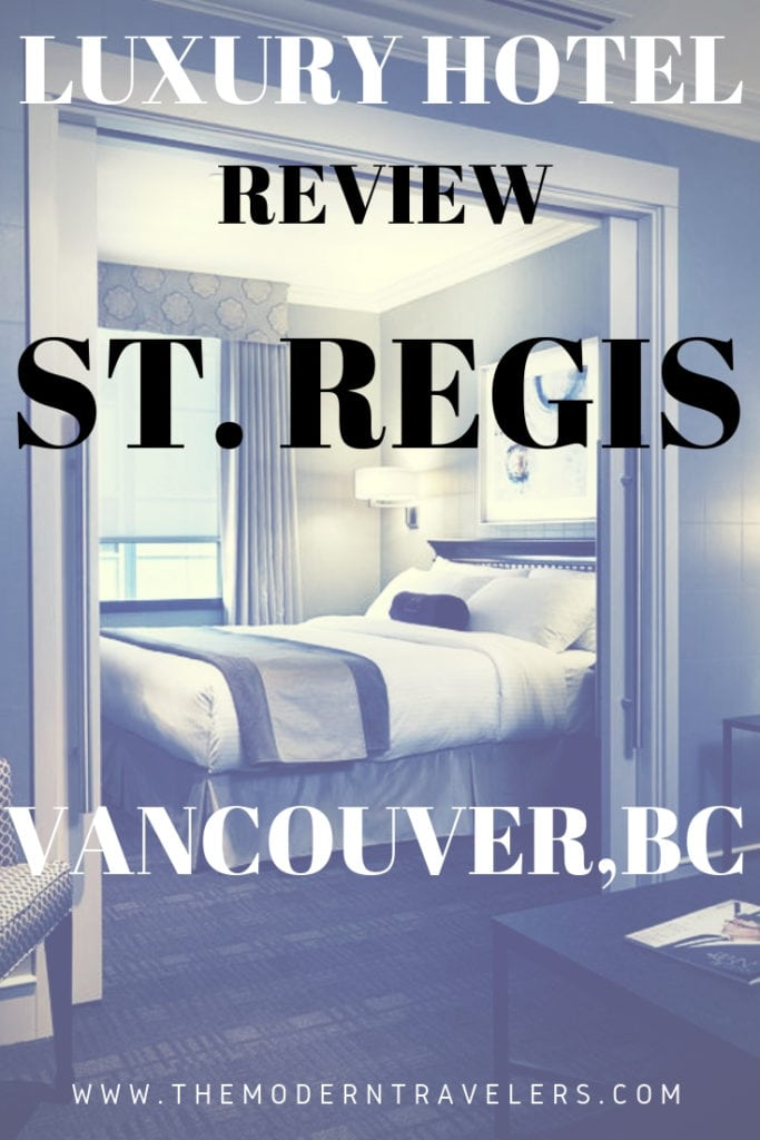 The St. Regis Hotel Vancouver is a luxurious hotel in a convenient location for business travelers and people looking for easy access to what the city has to offer. Where to stay in Vancouver BC, Best hotels in Vancouver BC, things to do in Vancouver