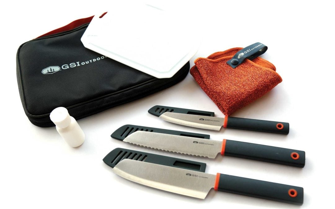 GSI Outdoors Santoku Knife Set for Luxurious Outdoor Cooking