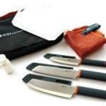 GSI Outdoors Santoku Knife Set for Luxurious Outdoor Cooking