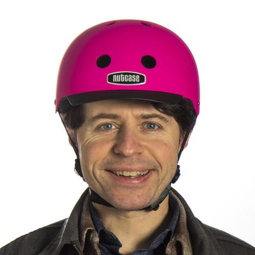 Love Your Brain with Nutcase Fuchsia Helmet