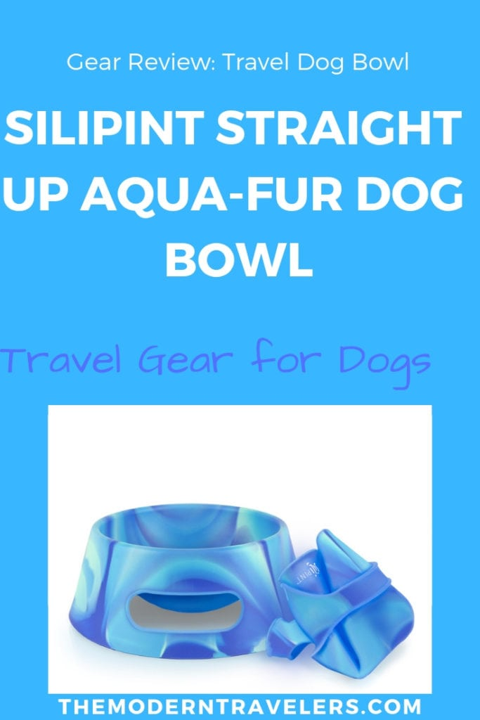 Silipint Straight Up Aqua-Fur Dog Bowl