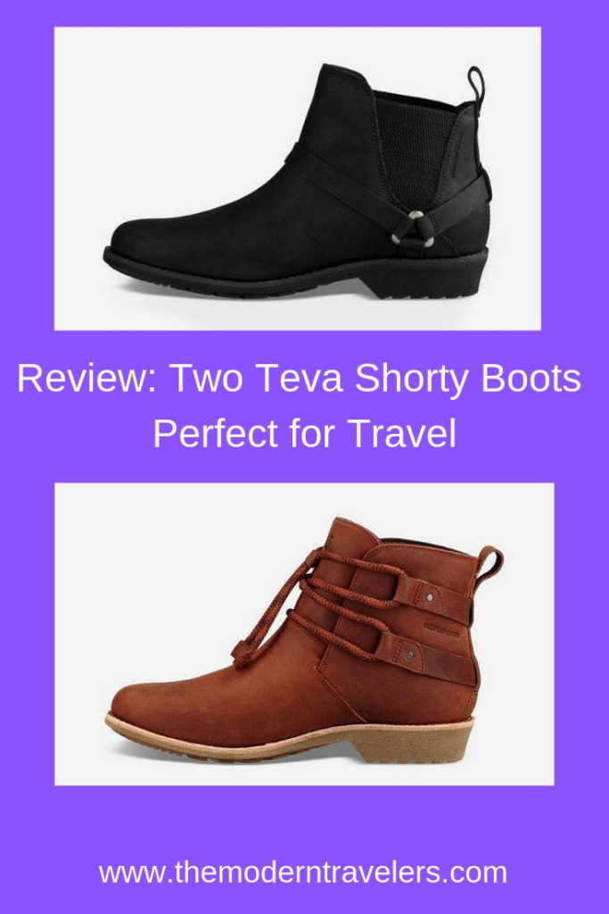 Two Teva Shorty Boot Perfect for Travel, Teva Shorty Boot Review, Teva De La Vina Dos Chelsea Boot Review, Booties for Travel