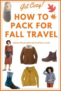 fall travel clothes, how to pack for fall, best clothes for fall travel, toad&co fall clothes, Darn Tough socks for travel